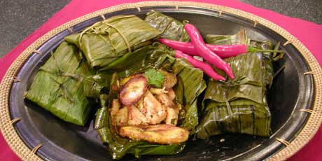 smoked chicken in a banana leaf recipes food network canada