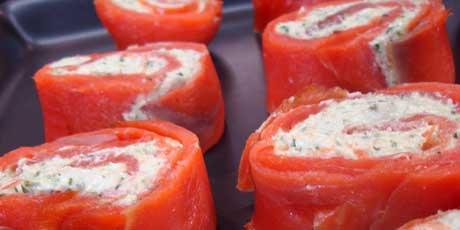 Smoked salmon pinwheels recipes food network canada smoked salmon pinwheels ccuart Image collections