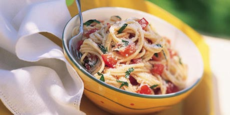 Spaghettini with Fresh Tomato and Basil Sauce