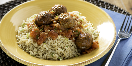 Spanish meatballs with rice recipes food network canada spanish meatballs with rice print recipe forumfinder Image collections