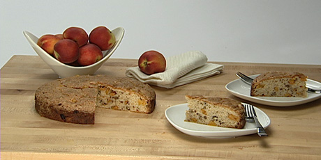 Spiced Peach Coffee Cake