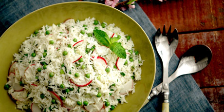 Spring Pea and Rice Salad