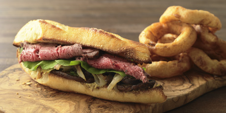 Steak Sandwich And Onion Rings Recipes Food Network Canada