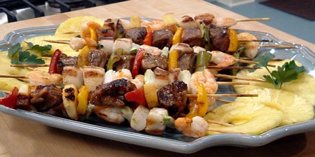 surf n 39 turf kabobs recipes food network canada. Black Bedroom Furniture Sets. Home Design Ideas