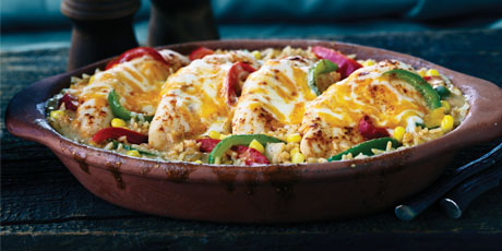 Tex Mex Chicken and Rice Bake Recipes | Food Network Canada