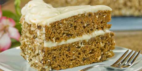 Two-Tiered Spiced Carrot Cake with Orange-Cream Cheese Frosting ...