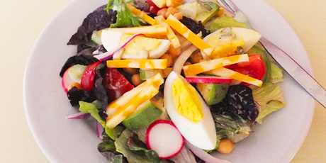Vegetarian Chef's Salad with Lemon Caper Dressing