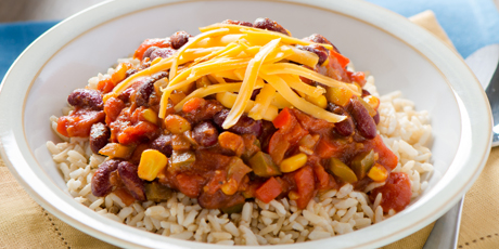Vegetarian chili with rice recipes food network canada vegetarian chili with rice print recipe forumfinder Image collections