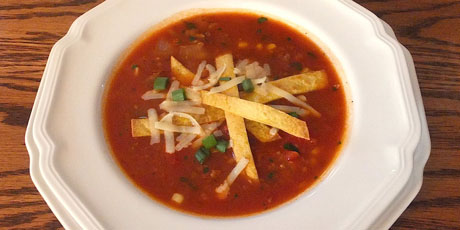 Vegetarian mexican tortilla soup recipes food network canada vegetarian mexican tortilla soup print recipe forumfinder Image collections