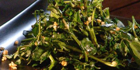 how to cook watercress garlic