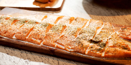 West Coast Cedar-Planked Salmon