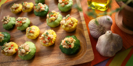 White Bean Salad with Patty Pan Cups