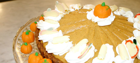 White Chocolate Pumpkin Mousse Tarte
