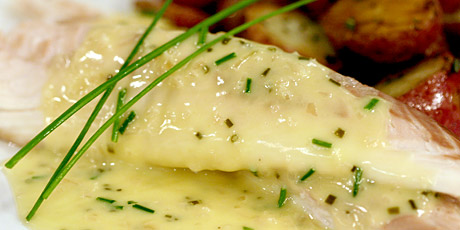 whole fish baked in a salt crust with chive beurre blanc recipes