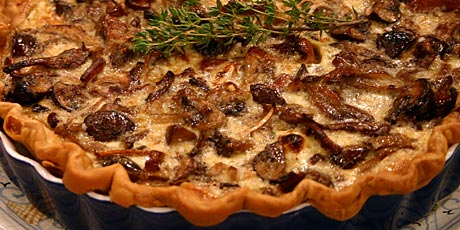 Wild mushroom and asiago quiche recipes food network canada wild mushroom and asiago quiche forumfinder