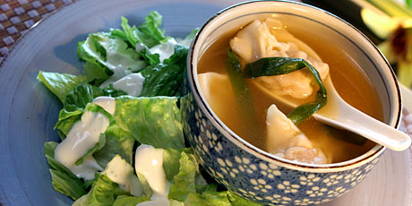 Wonton Soup with Salad