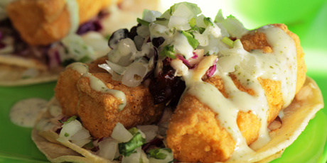Yayo 39 S Mahi Mahi Fish Tacos Recipes Food Network Canada