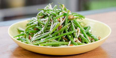 Haricots Verts with Almonds, Ricotta Salata and Orange-Honey Dressing ...