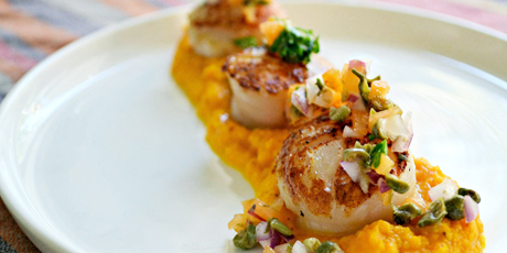 pan seared scallops food network