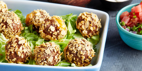 Cheesy Stuffed Taco Meatballs