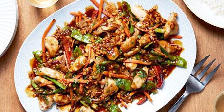 Chicken satay stir fry with orange scented jasmine rice recipes chicken satay stir fry with orange scented jasmine rice forumfinder Gallery