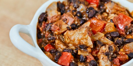 Pork and Black Bean Chili