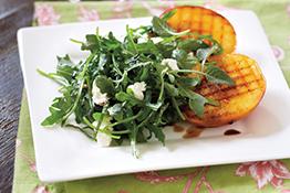 Baby Arugula Salad with Peaches