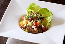 Chorizo Heirloom Salad with Tomatoes