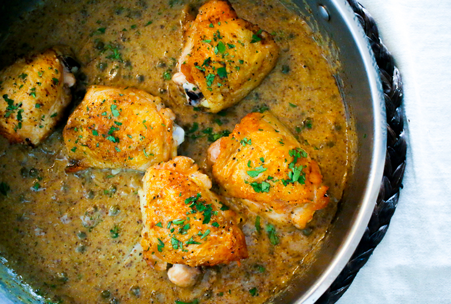 Pan-Seared Chicken Thighs With Beer And Grainy Mustard ...