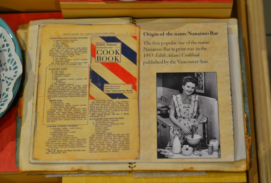 Nanaimo bars in the 1953 Edith Adams cookbook