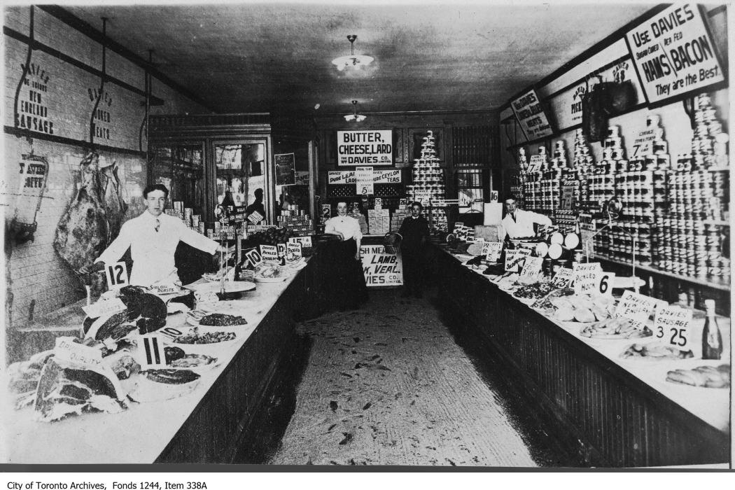 William Davies Store, interior, 1908
