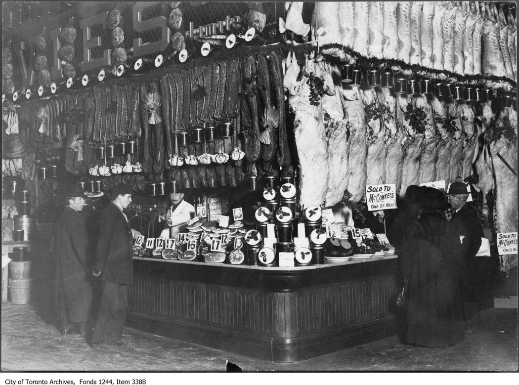 William Davies stall, St. Lawrence Market, 1911