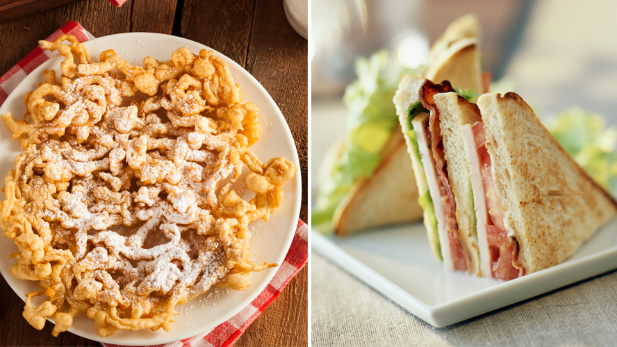 Noah Cappe's Clubbel combines funnel cake with a chicken club sandwich.