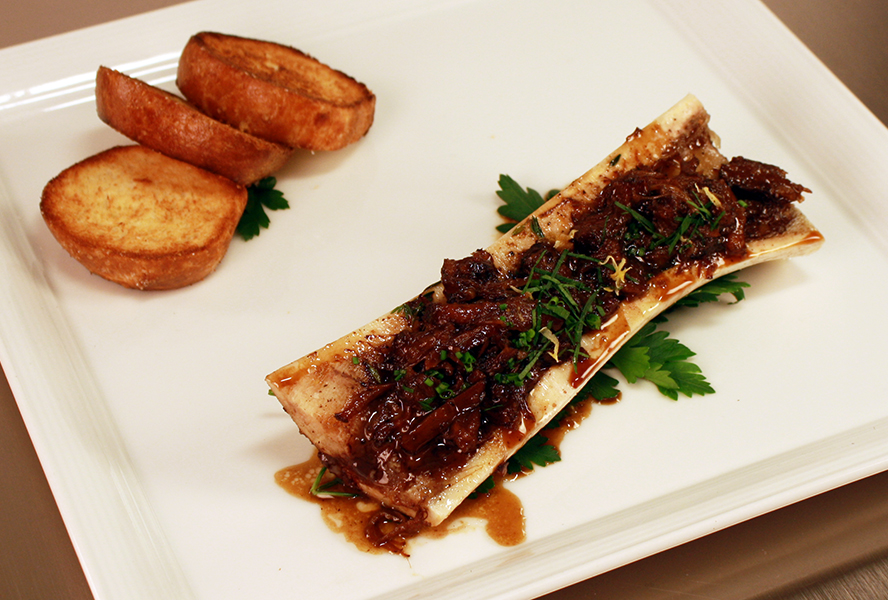 Try Rob Rossi's Roasted Bone Marrow with Ox Tail, Parsley Salad and ...