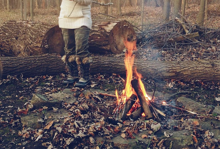 Campfire Cooking, building a fire