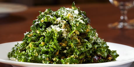 Kale Salad with Anchovy Vinaigrette & Pecorino