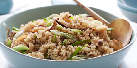 Quinoa With Shiitakes and Snow Peas