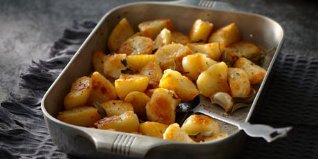 Slow-Roasted Potatoes with Garlic and Herbs