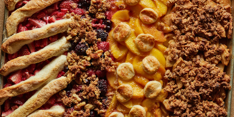 Four-Flavor Sheet Pan Cobbler