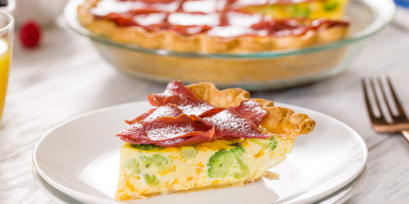 Turkey Bacon and Broccoli Quiche