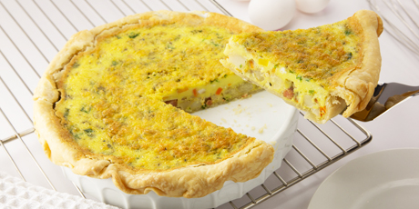 Ham and Root Vegetable Quiche