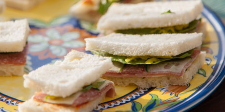 English and Italian Finger Sandwiches