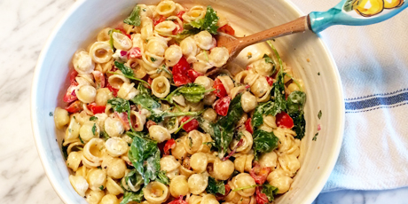 Orecchiette with Homemade Ricotta and Cherry Tomatoes