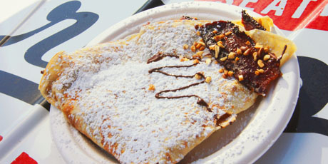 Smoked Chocolate & Candied Bacon Crepe