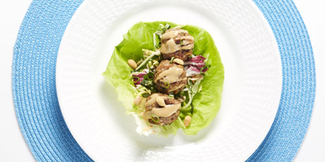 Pure Leaf Pairings Thai Chicken Meatball Lettuce Wraps