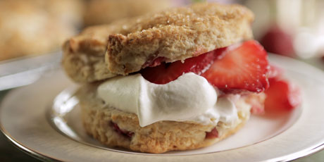 Strawberry and Rhubarb Shortcakes