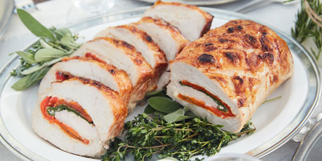 Tricolore Stuffed Pork