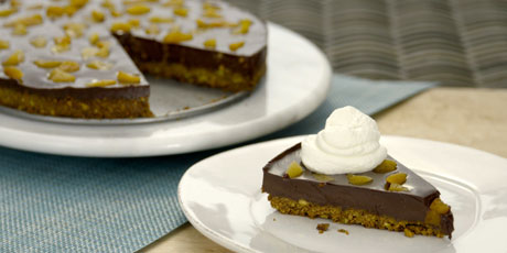 Chocolate-Pistachio Fudge Tart