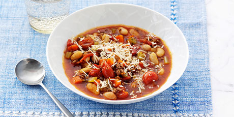 Beef and Cannellini Bean Minestrone