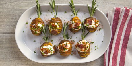 Mini Hasselback Loaded Potatoes